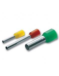 Terminali a tubetto 0,1-0,3 mm2 lungh. 12,4 mm collare isolato giallo CEMBRE PKE308 confezione 500 pz