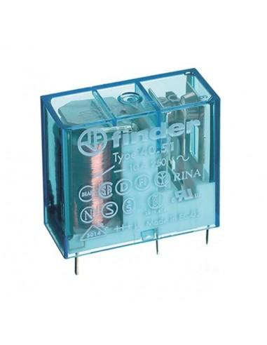 Relè miniatura 40.51 FINDER Ohm 220 1 contatto 10A 12VCC