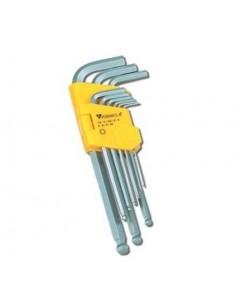 Set chiavi maschio esagonali a norme DIN 911 impronta ball point 9 pezzi ELEMATIC