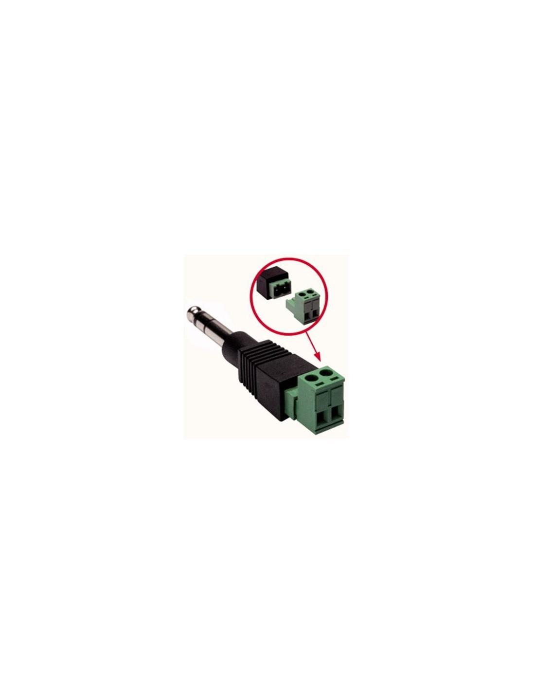 Adattatore da spina 6 3 mm stereo a morsetto 2 poli - Radio car poli ...