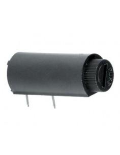 Portafusibile orrizzontale con tappo a baionetta per C.S. per fusibile 5X20