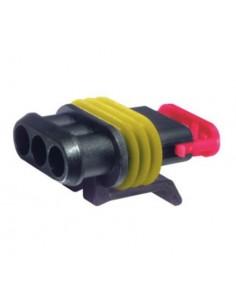 Connettori portafemmine AMP 3 poli serie SUPER SEAL 1.5 cod. 282087-1