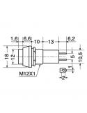Interruttore unipolare a pulsante 250V-1A nero