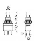 Deviatore bipolare 2A-250V a pulsante alternato