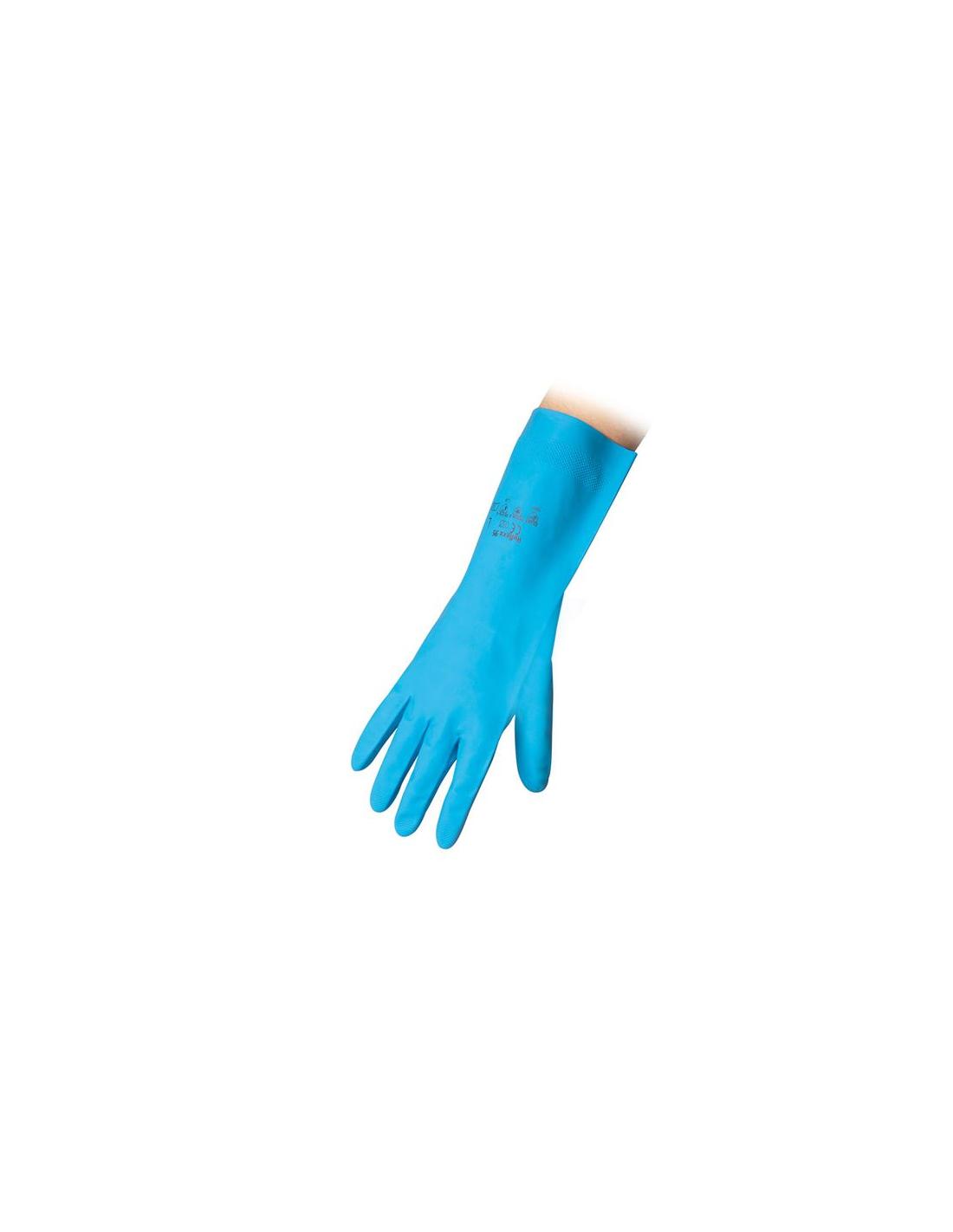 NITRILE guanto BLU lavoro guanto protezione prodotti chimici guanto protezione Mis 10