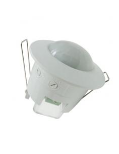 Sensore di movimento 360° infrarossi ad incasso con crepuscolare