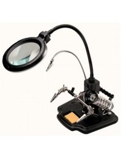 Supporto multifunzionale led con lente 3 diottrie
