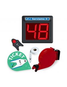 Kit elimina code display 2 cifre con pulsante wireless MINIPOINT TD2
