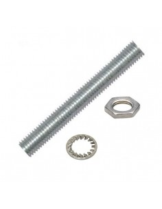 Niples 20 mm in metallo filetto M10X1 completo di dado e rondella