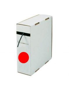 Box guaina diam. 4,8 termorestringente in poliolefina rest. 2:1 rossa confezione 10 mt