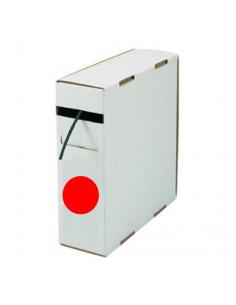 Box guaina diam. 6,4 termorestringente in poliolefina rest. 2:1 rossa confezione 5 mt