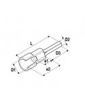 Puntale tondo 1,5-2,5 mm2 preisolato blu ELEMATIC 11210212 confezione 100 pz.