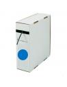 Box guaina diam. 9,5 termorestringente in poliolefina rest. 2:1 blu confezione 5 mt