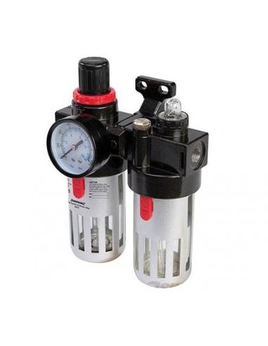 Filtro regolatore con lubrificatore per aria compressa 150 ml