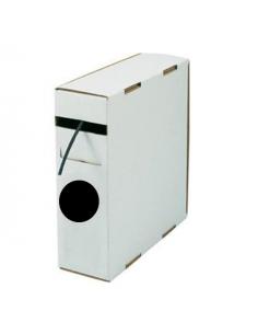 Box guaina diam. 1,2 termorestringente in poliolefina rest. 2:1 nera confezione 10 mt