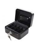 Cassetta di sicurezza 165X128X80 mm in metallo con portamonete chiusura a chiave