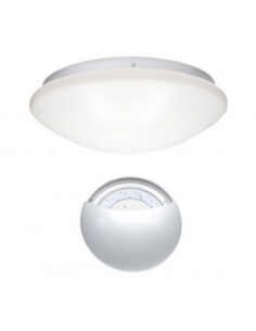 Plafoniera LED da soffitto bianco naturale 22W IP53 bianca diametro 35cm