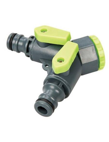 Connettore rubinetto a 2 vie