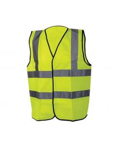 Gilet taglia L (108-116 cm) Classe 2 ad alta visibilità giallo fluorescente