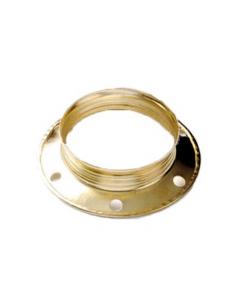 Ghiera in metallo E27 ottone