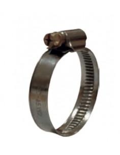 Fascetta stringitubo 16 -27 mm completamente in acciaio inox 18/8 AISI 304 W4