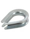 10 Ditali per funi di 6 mm in acciaio zincato