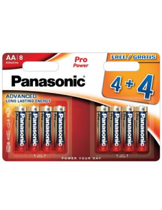 Pila alcalina AAA ministilo Panasonic PRO POWER 4+4 Free
