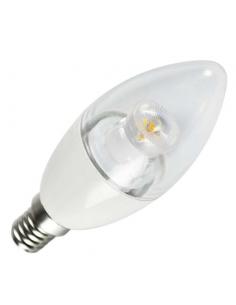 Lampada a led 5,5W bianco freddo E14 a candela diametro 37 mm
