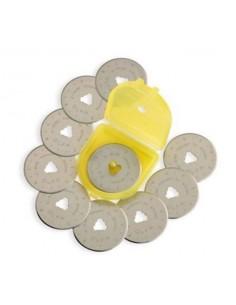 Lame di ricambio per cutter a disco 28 mm OLFA 10 pezzi