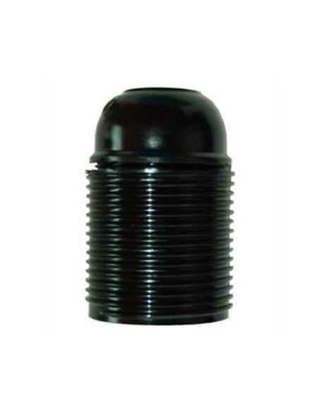 Portalampade in bachelite filettato nero E27