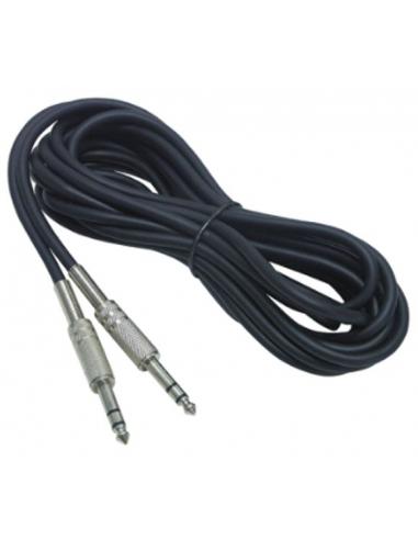 10 Metri cavo di collegamento con 2 JACK 6,3 mm stereo HOLLYWOOD