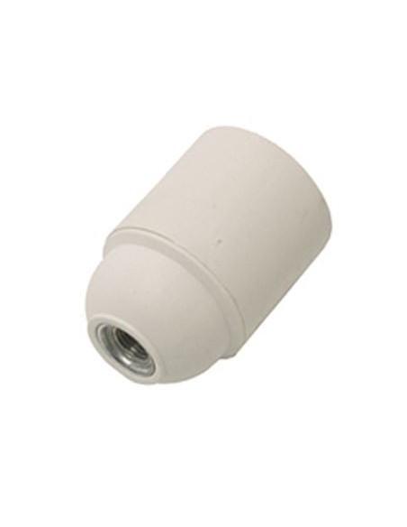 Portalampada in bachelite liscio bianco E27