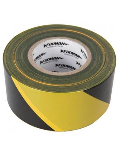Nastro di sbarramento giallo-nero 70mm x 500 mt