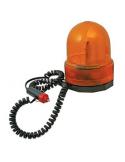 Fanale lampeggiante rotante 12V con supporto magnetico