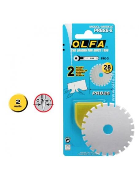 2 Lame dentellate di ricambio OLFA PRB28-2 per cutter a disco 28mm