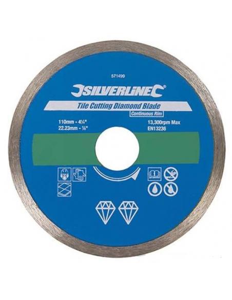 Lama a disco diamantata 115X22,23 mm a bordo continuo per taglio piastrelle