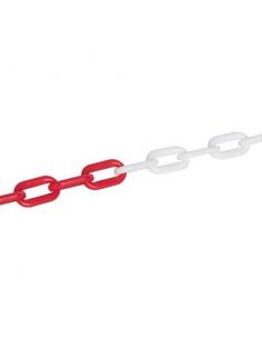 Catena in plastica bianco/rossa 6 mm lunghezza 5 metri