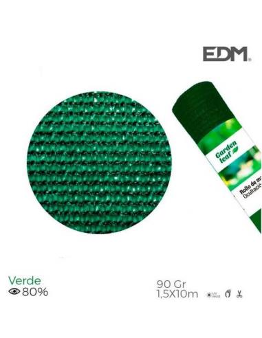Rete ombreggiante frangivista 1,5x10 metri verde 90gr/mq