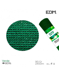 Rete ombreggiante frangivista 2x50 metri verde 90gr/mq