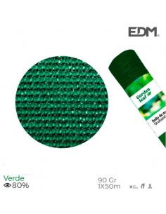 Rete ombreggiante frangivista 1x50 metri verde 90gr/mq