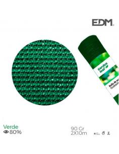 Rete ombreggiante frangivista 2x10 metri verde 90gr/mq