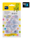 Paraspigoli in pvc flessibile trasparente 8 pezzi