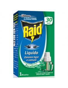 Ricarica liquida all'eucalipto per diffusore raid liquido elettrico antizanzare 21 ml