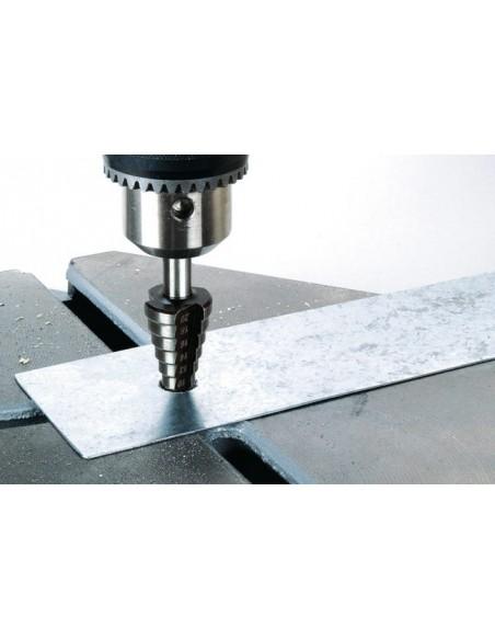 Punta conica a scalini HSS da diametro 4 a 20 mm WOLFCRAFT 2515000