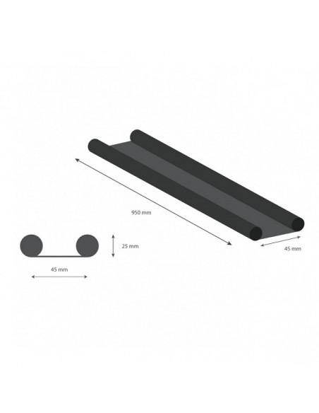 Paraspifferi sottoporta double stop antracite 45x950 mm geko 1470