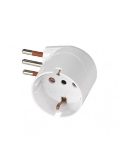 Adattatore schuko 10A 90° bianco Rosi RS78027