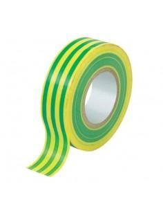 Nastro isolante 15x10 mt PVC autoadesivo giallo/verde
