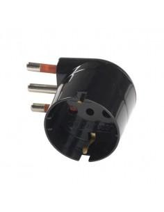 Adattatore schuko 10A 90° nero Rosi RS78028