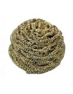 Spugnetta in lana di ottone per pulizia punte saldatore