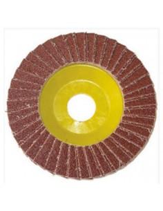 Disco lamellare 115X22 grana 80 Corindone supporto in fibra